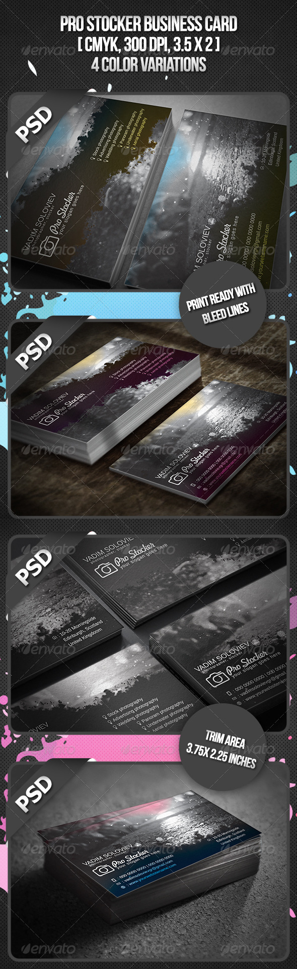 Pro Stocker Business Card - Business Cards Print Templates