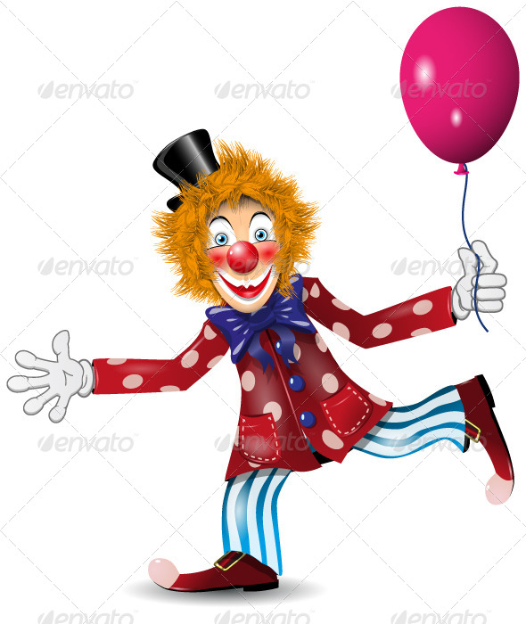 GraphicRiver Cheerful Clown 4128556