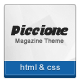 Piccione - Responsive News/Magazine Template - ThemeForest Item for Sale