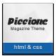 Piccione - Responsive Nouvelles / Magazine Template - Point WorldWideThemes.net à vendre