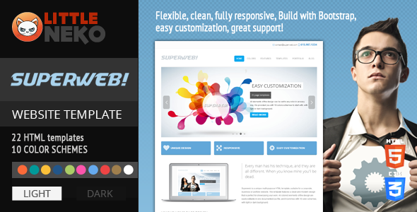 ThemeForest Superweb HTML5 Bootstrap Website Template 4006766