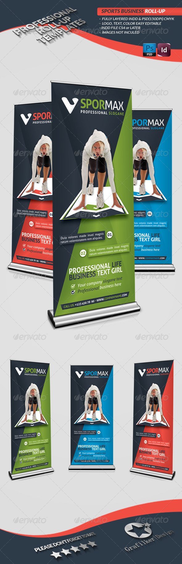 Sports Roll-Up Templates