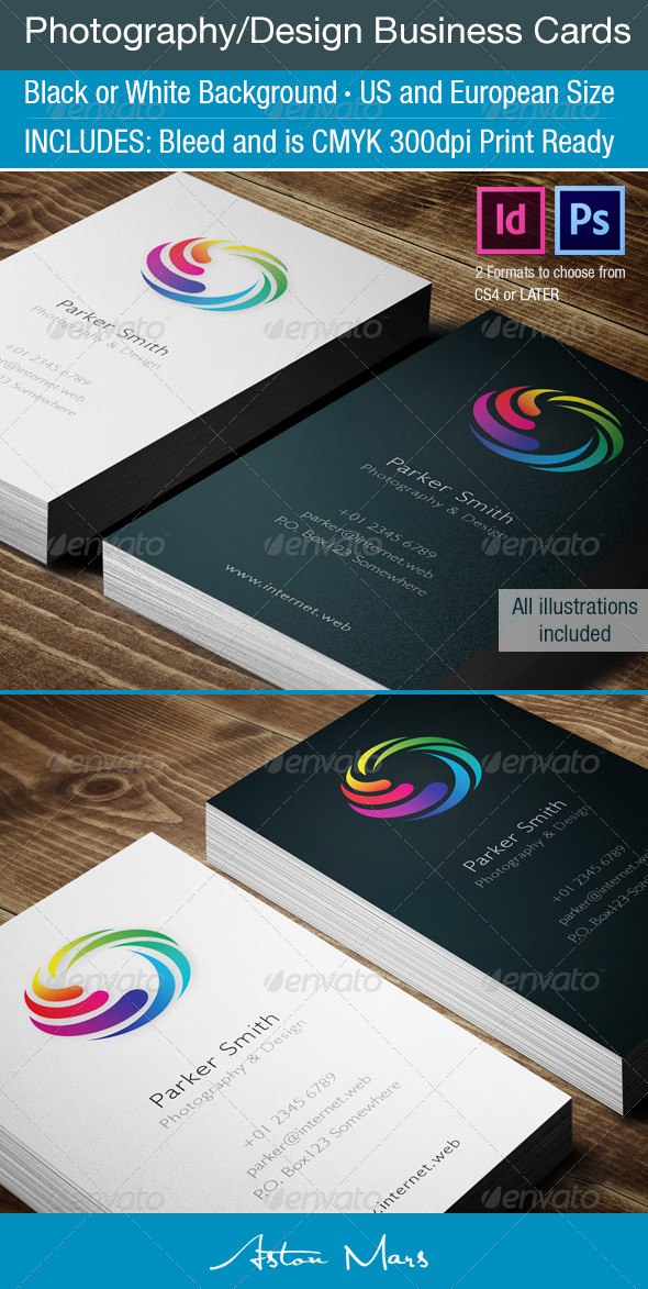 GraphicRiver Photography Business Cards 4004705