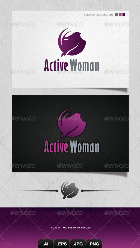 GraphicRiver Active Woman Logo 4050965