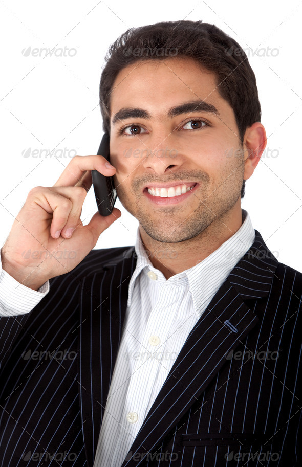 Business man on the phone - Stock Photo - Images