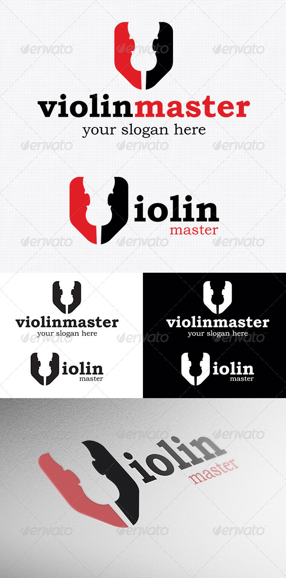 GraphicRiver Violin Logo Template 4037581