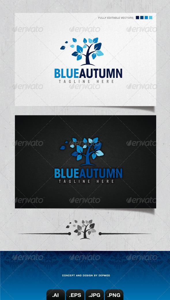 GraphicRiver Blue Autumn Logo 4130530