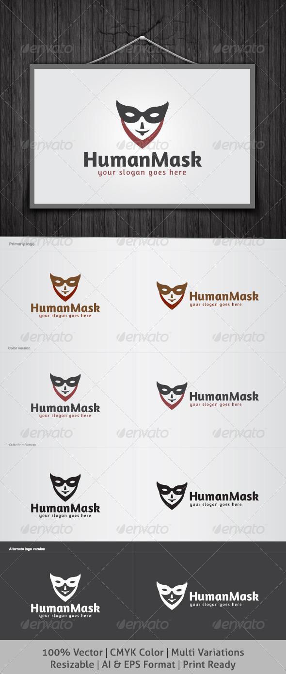 GraphicRiver Human Mask Logo 4040904