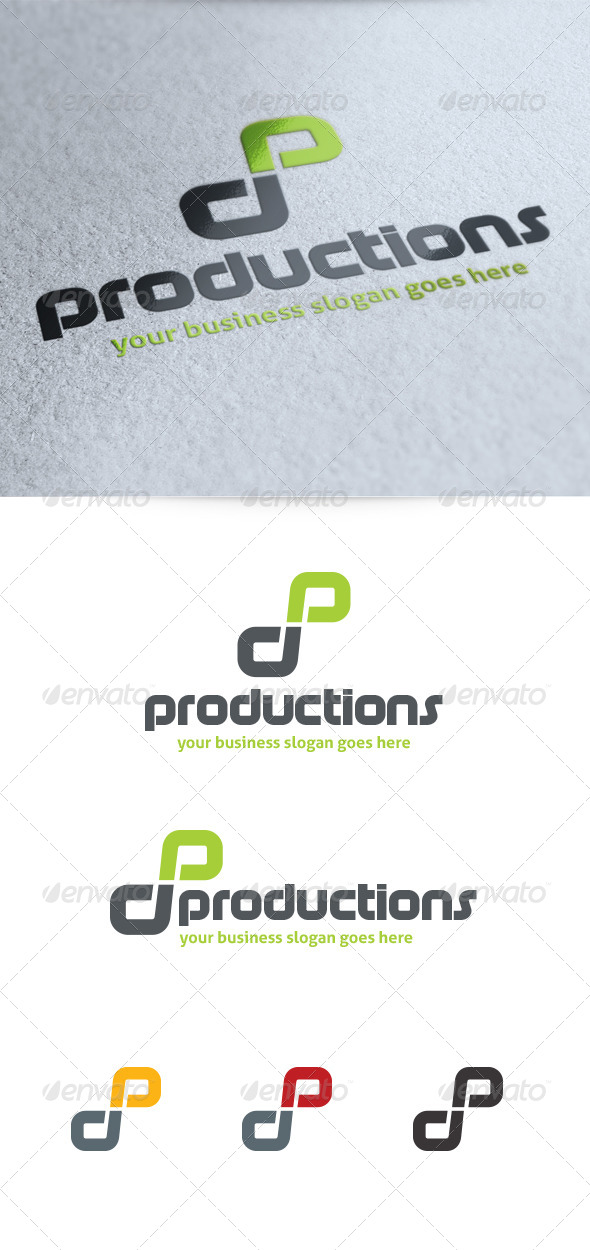 GraphicRiver Letter P Productions Logo 4131474