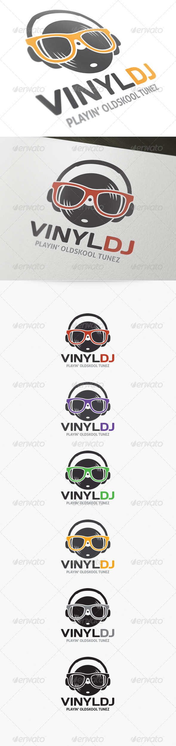 Vinyl DJ Logo - Objects Logo Templates