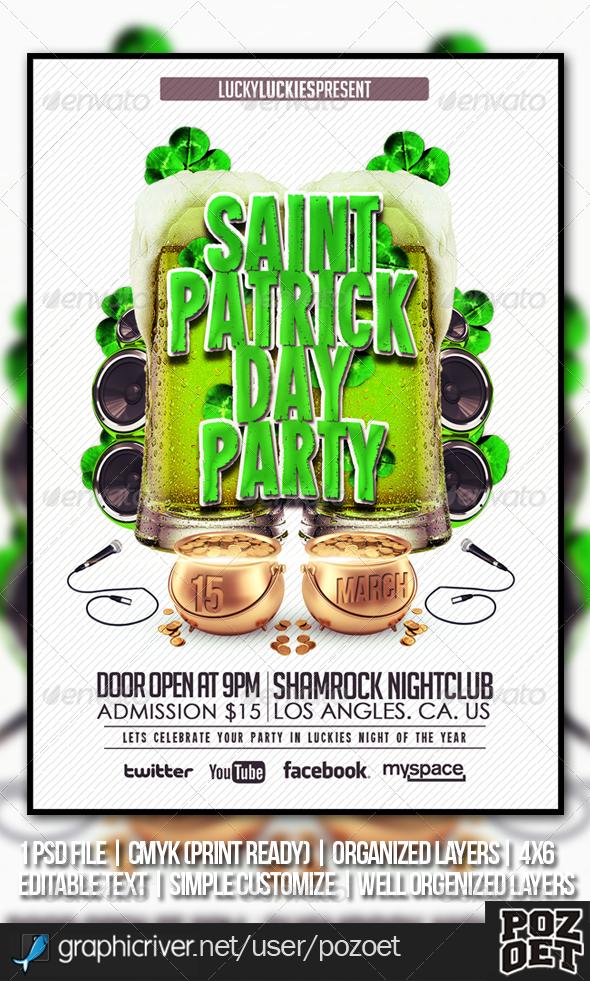 Saint Patrick s Flyer Template