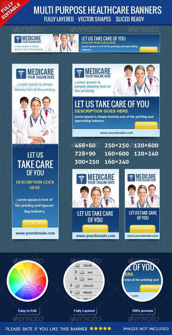 GraphicRiver Healthcare Banners 4057209