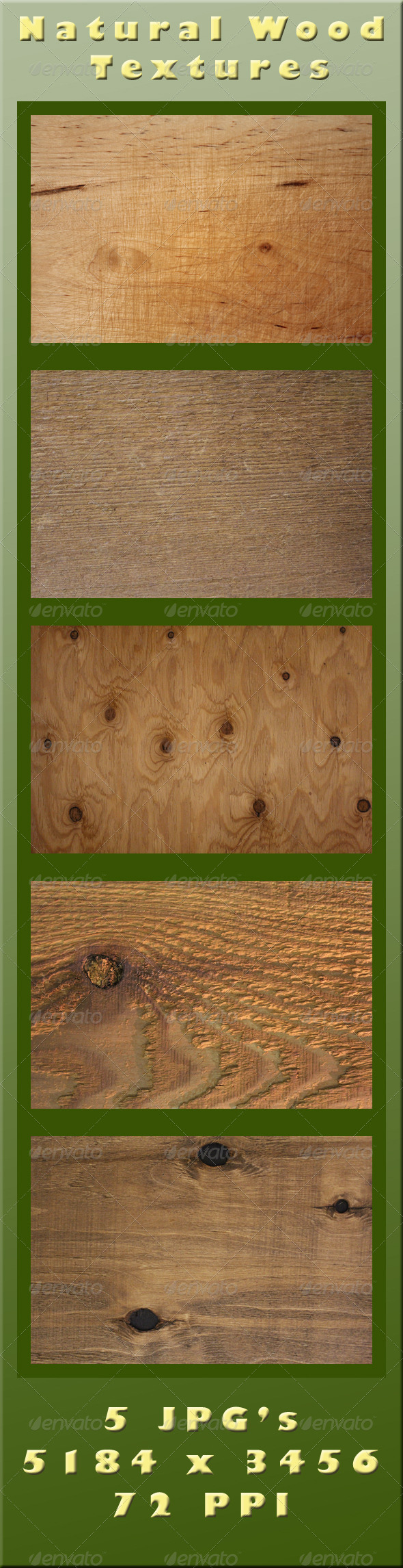 GraphicRiver Natural Wood Textures 4132283