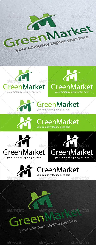 GraphicRiver Green Market Logo 4132356