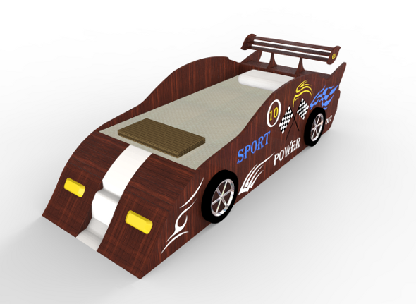 3DOcean Sport Racing Car Bed 4133488