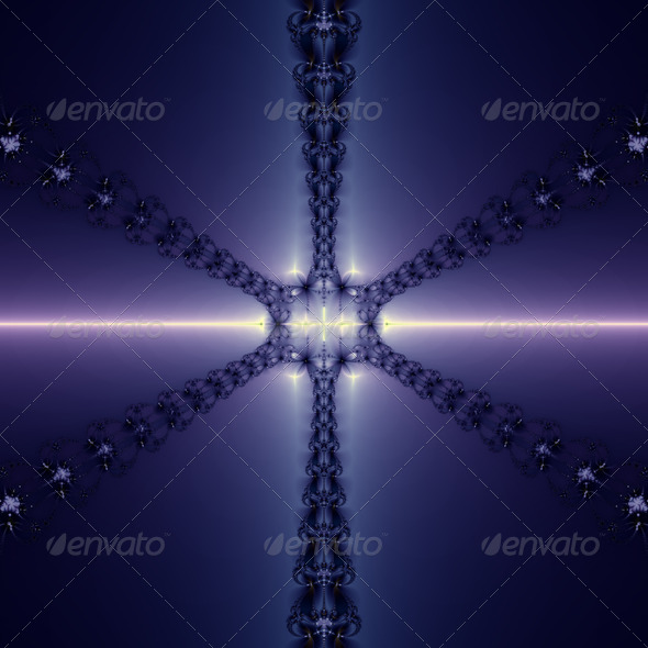 Blue Snowflake - Stock Photo - Images