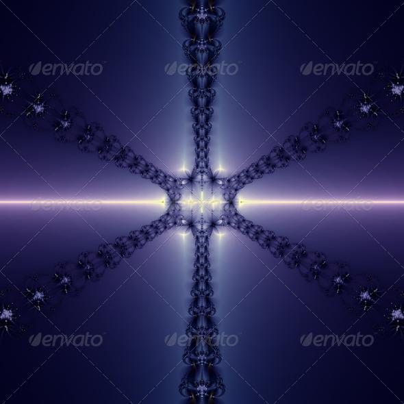 Blue Snowflake - Stock Photo - Images