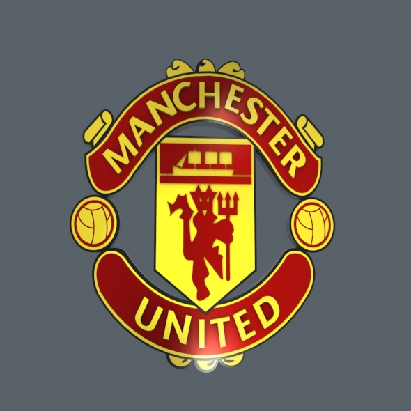 Manchester United Logo - 3DOcean Item for Sale