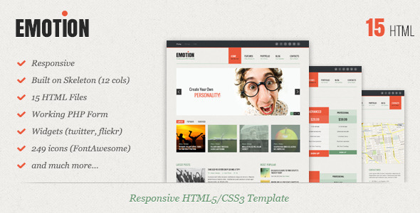 ThemeForest Emotion Responsive HTML5 CSS3 Template 4114650