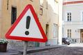 Road warning sign other danger