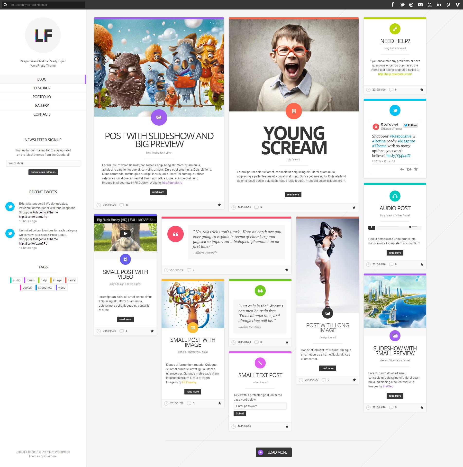 LiquidFolio - Portfolio Premium WordPress Theme