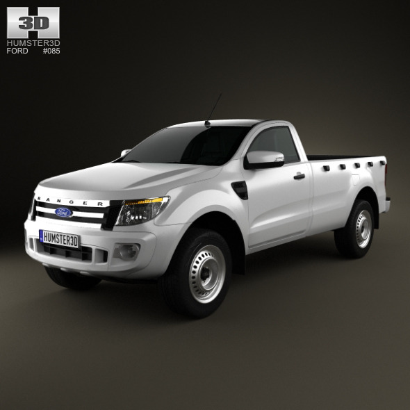 3DOcean Ford Ranger Single Cab 2012 4134411