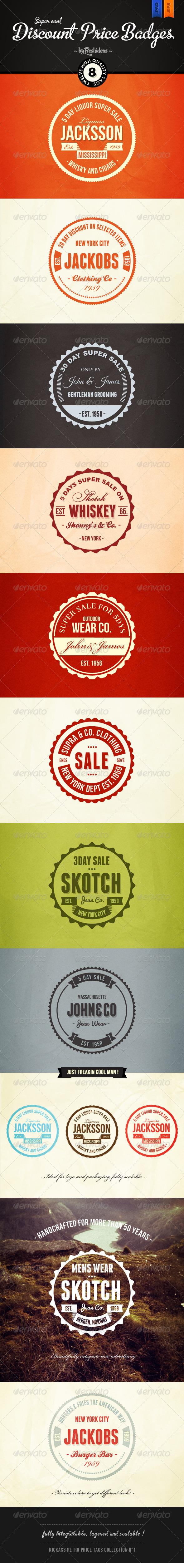 GraphicRiver Retro Price Badges 3995389