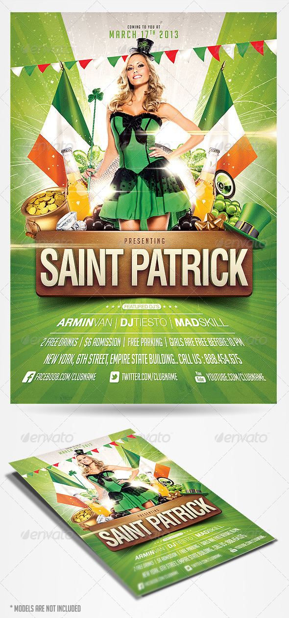 GraphicRiver Saint Patricks Day Party Flyer 4017108