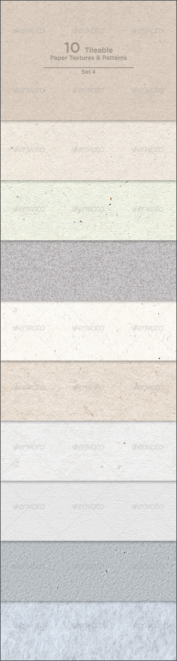 GraphicRiver 10 Tileable Paper Textures Patterns 4134972