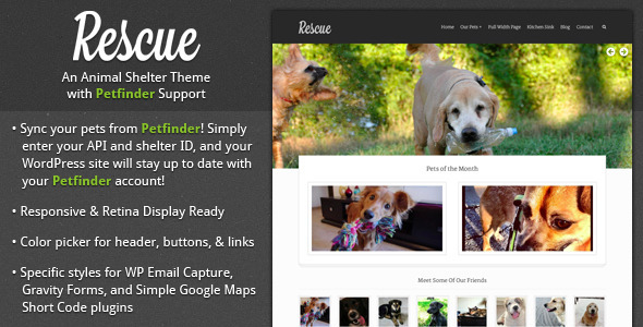 ThemeForest Rescue Animal Shelter Theme & Petfinder Support 4134977