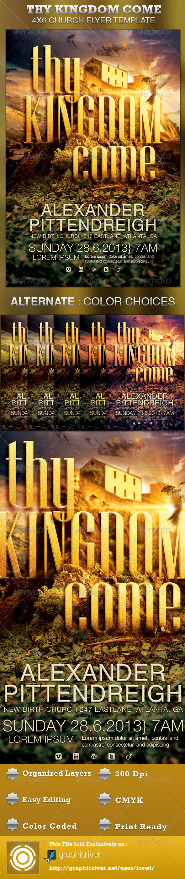 Thy Kingdom Come Church Flyer Template - Church Flyers
