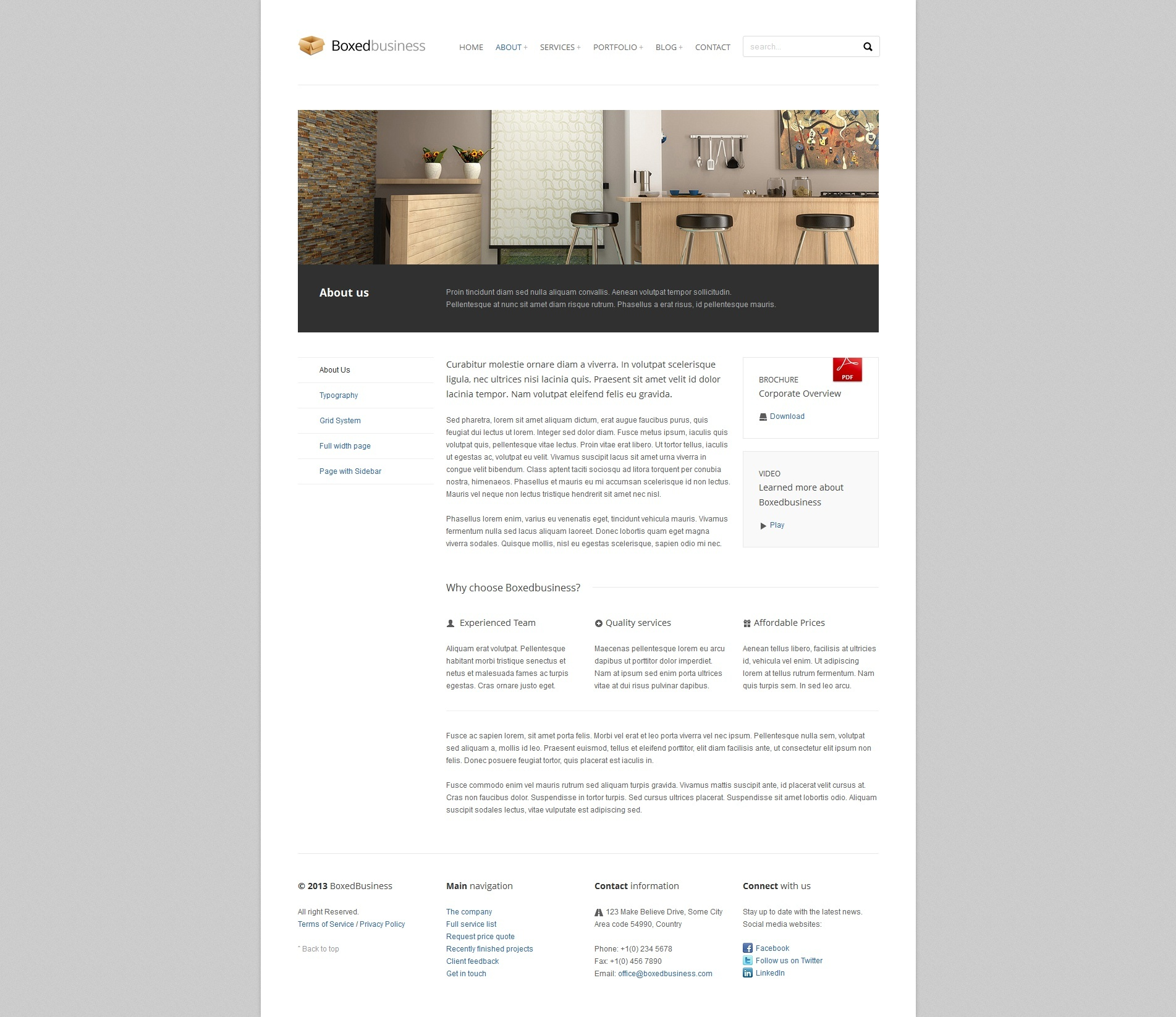 BoxedBusiness - Responsive Corporate HTML Template