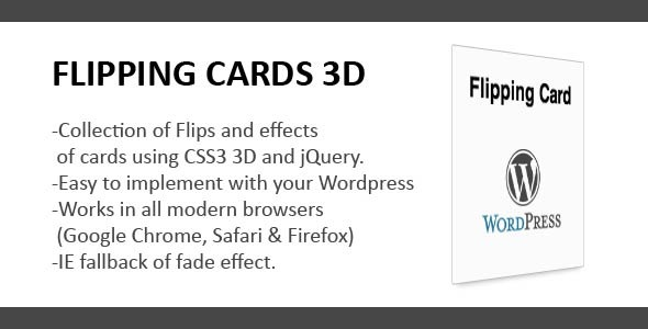 CodeCanyon Flipping Cards 3D Wordpress 4135044