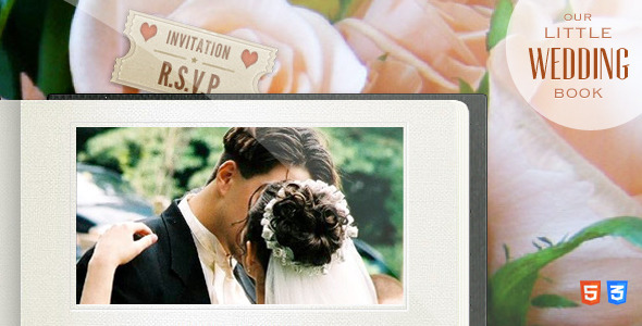 ThemeForest Our Little Wedding Book HTML5 Template 4135224
