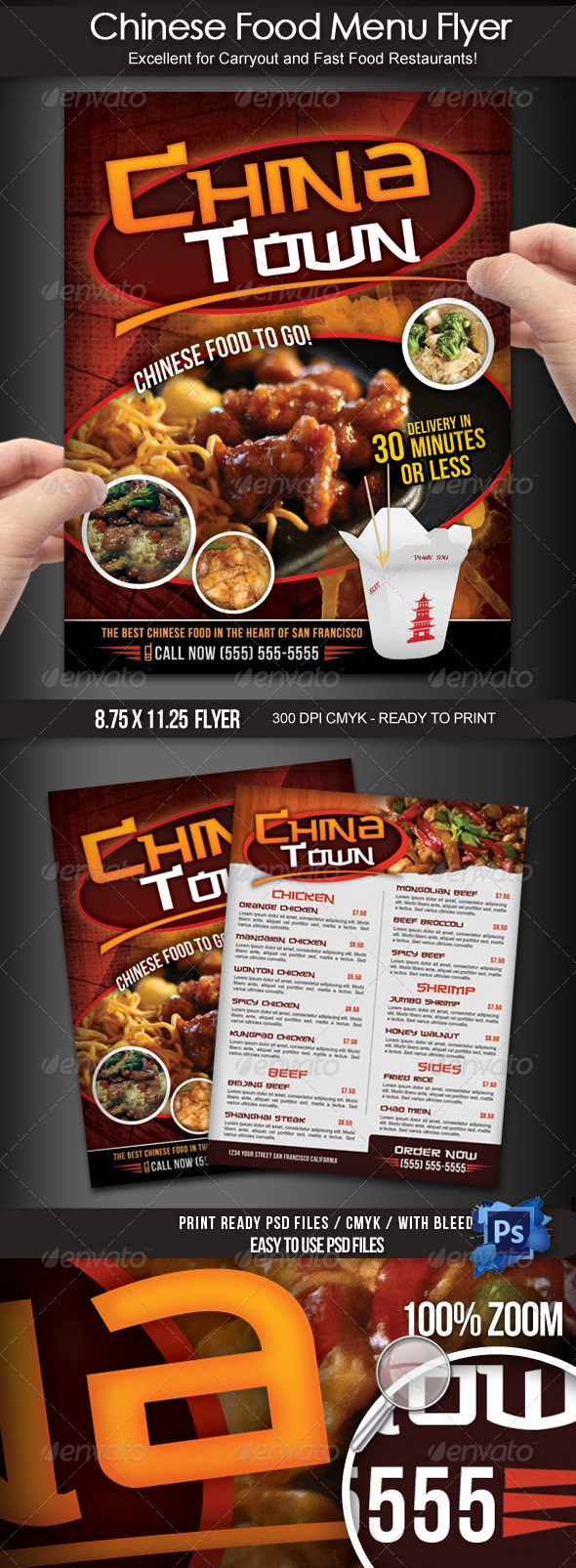 GraphicRiver Chinese Food Menu Flyer 3988964