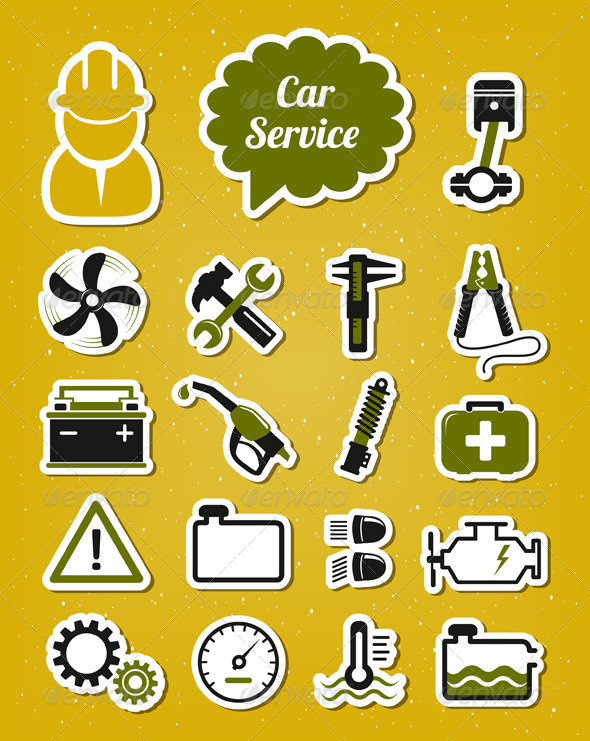GraphicRiver Car Service Icons 4136607