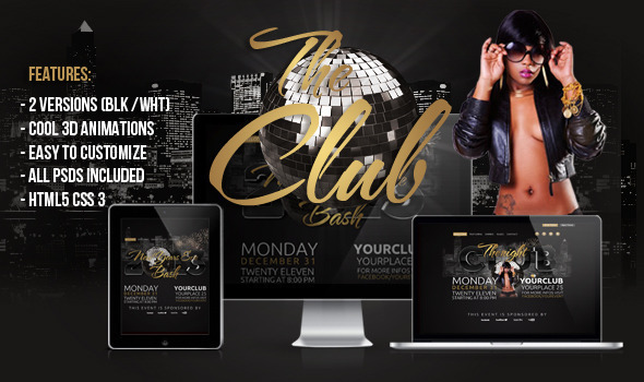 The Club 3D HTML Template - Nightlife Entertainment