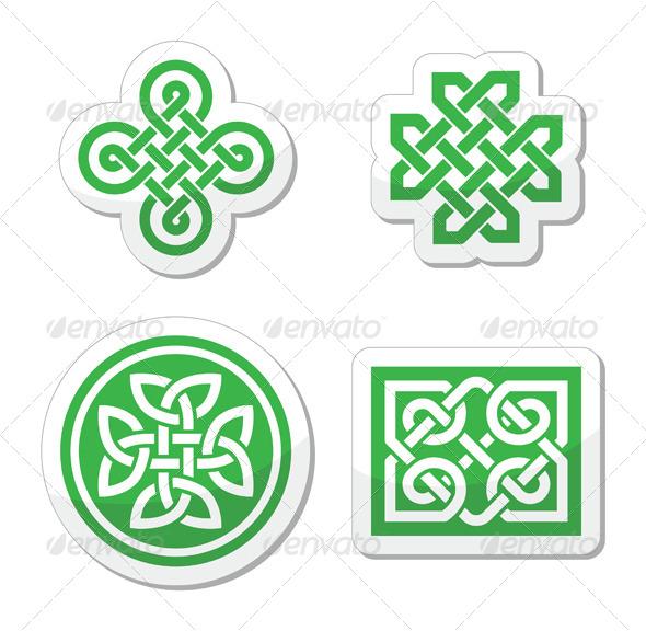 GraphicRiver Celtic Knots Patterns Vector 4136817