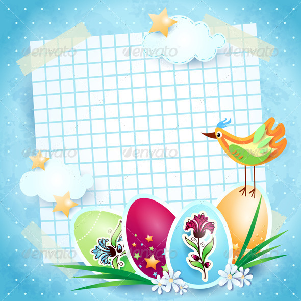 GraphicRiver Easter Background with Custom Paper 4137092