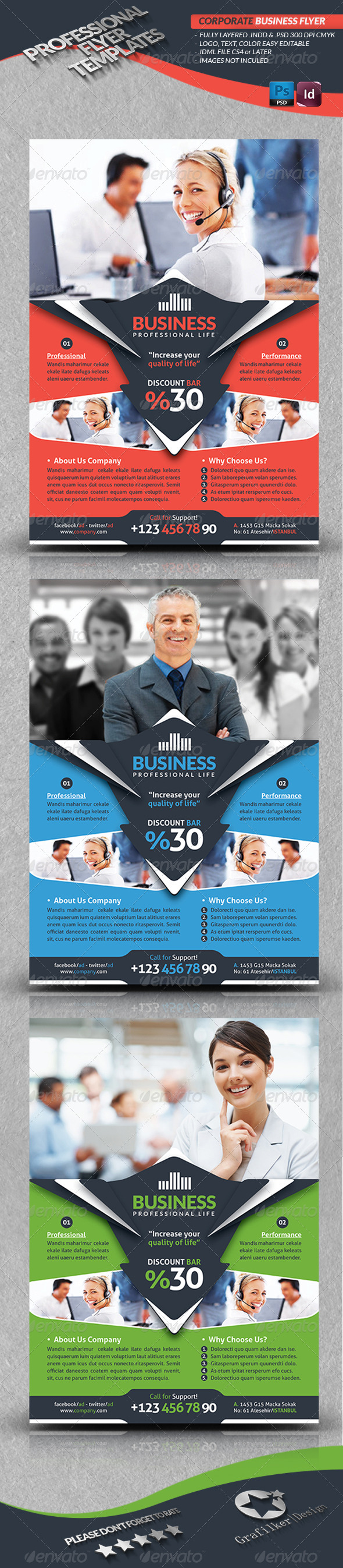 GraphicRiver Corporate Business Flyer 4137133