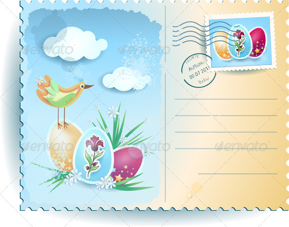 GraphicRiver Easter Postcard 4137214