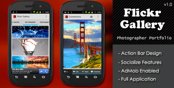 CodeCanyon Flickr Gallery Photographer Portfolio App 4137342