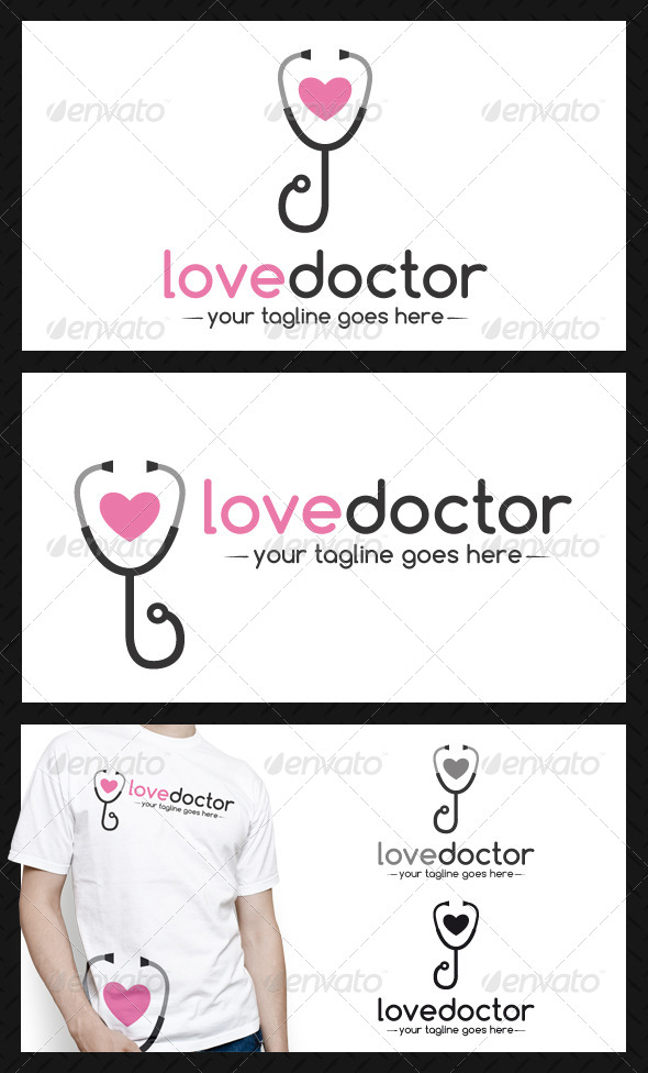 GraphicRiver Doctor Love Logo Template 4137656