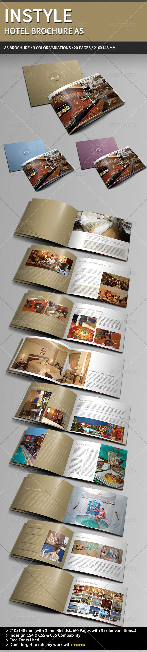 GraphicRiver InStyle Hotel Brochure A5. 4137729
