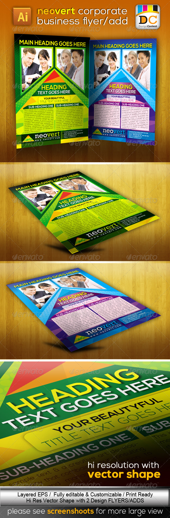 GraphicRiver NeoVert Corporate Business Flyers Adds 3980834