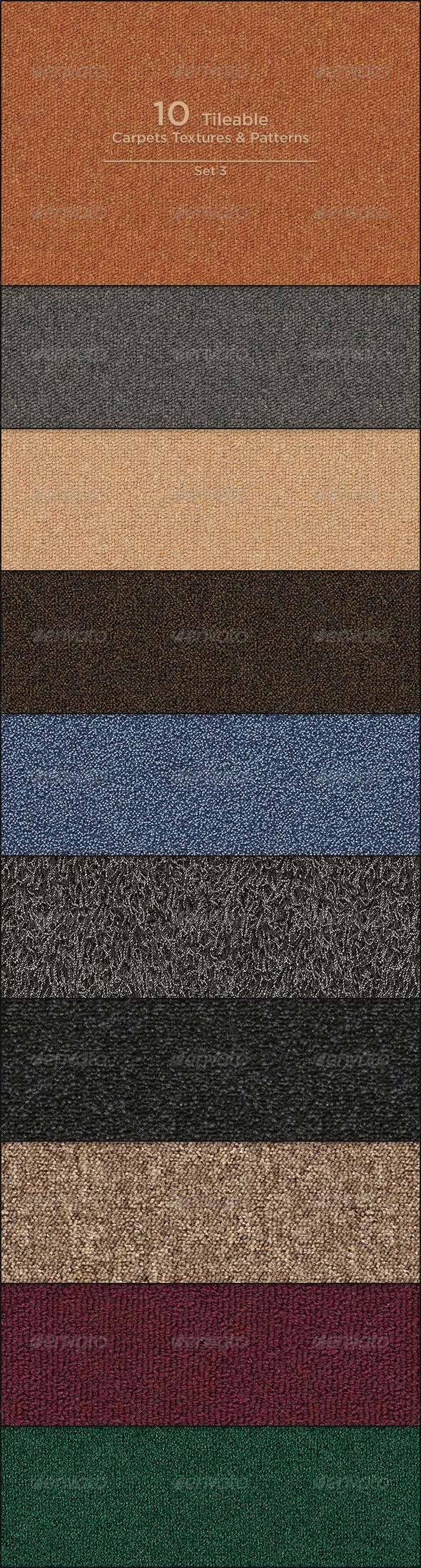 10 Tileable Carpet Textures/Patterns - Miscellaneous Textures / Fills / Patterns