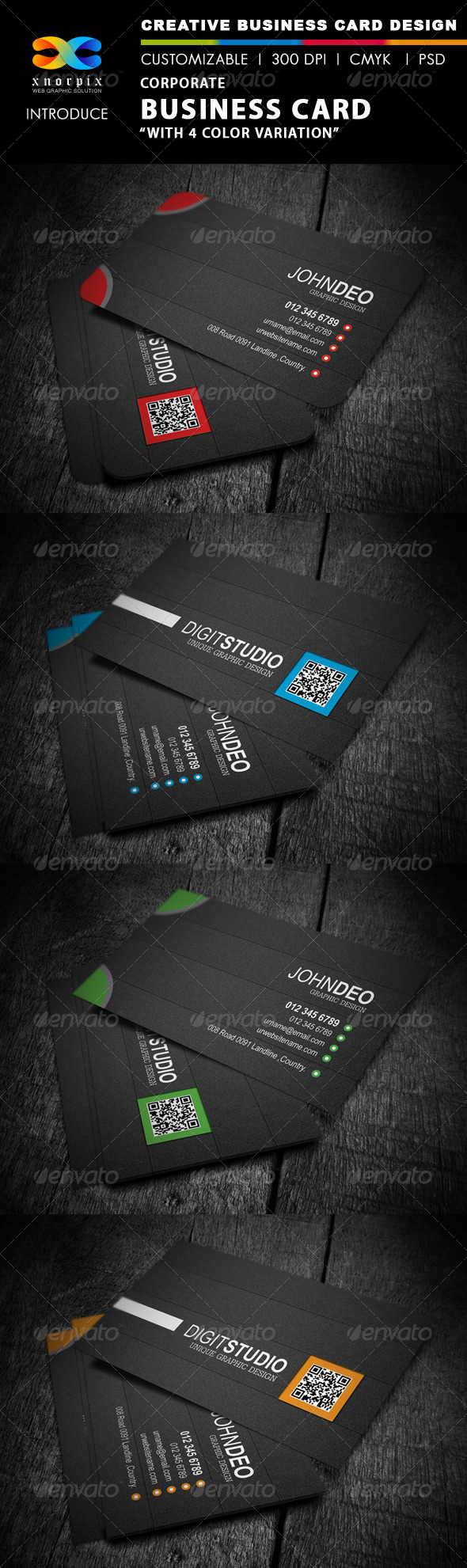 GraphicRiver Corporate Business Card 4138045