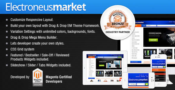 ThemeForest Gala Electronues Market Responsive Theme 4138219