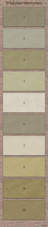 GraphicRiver Ten Soft Paper Texture Patterns 4138220