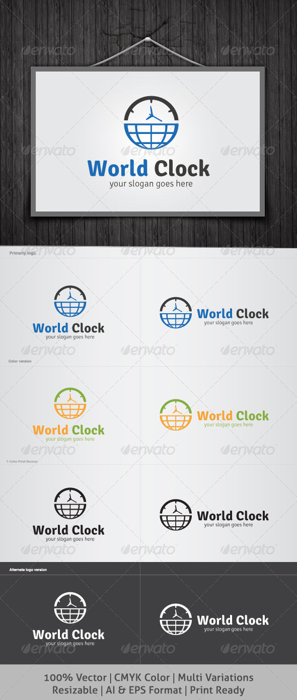GraphicRiver World Clock Logo 4138283